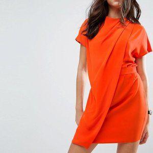 ASOS | Bright Orange Drape Mini Dress